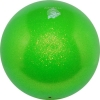"PASTORELLI GLITTER Gym Ball HV (High Vision). Color: ""Green"", Art. 00036"