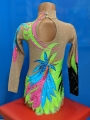 Leotard for competitions, used. For height 130-140 cm