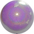 "PASTORELLI GLITTER Gym Ball HV (High Vision). Color: ""Baby Lilac"", Art. 02448"