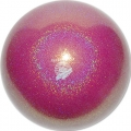 "PASTORELLI GLITTER Gym Ball HV (High Vision). Color: ""Raspberry Baby"", Art. 02813"
