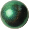 "PASTORELLI GLITTER Gym Ball HV (High Vision). Color: ""Beetle"", Art. 02922"