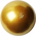 "PASTORELLI GLITTER Gym Ball HV (High Vision). Color: ""Honey"", Art. 02925"