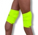 Pair of Pastorelli fluo yellow knee pads