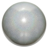 "PASTORELLI GLITTER Gym Ball HV (High Vision). Color: ""Silver AB"", Art. 03180"