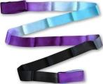 Shaded ribbon PASTORELLI, 5 m. Colour: Black-Sky Blue-Violet, Art. 03230