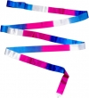 ITALIA rayon ribbon 5m, three-colour blue white fuxia, Art. 02390
