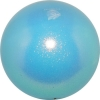 "PASTORELLI GLITTER Gym Ball HV (High Vision). Color: ""Light Blue"", Art. 00031"