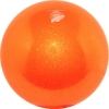 "PASTORELLI GLITTER Gym Ball HV (High Vision). Color: ""Orange"", Art. 00028"