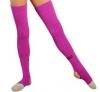 Pastorelli magenta long Junior leg warmers with foot, Art. 00477