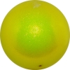 "PASTORELLI GLITTER Gym Ball HV (High Vision). Color: ""Fluo Yellow"", Art. 00025"