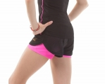 Double gymnastics shorts SOLO Black/Pink RG768.0.11