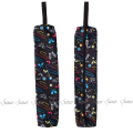 Holder for Gymnastic Clubs SOLO CH200-266, black batterflies pattern