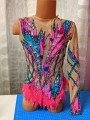 Leotard for competitions, new. For height: 126-136 cm