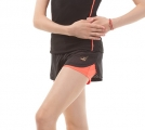 Double gymnastics shorts SOLO Black/Orange RG768.0.14