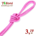 Competition Rope Tuloni mod. Fly. Color Light Pink, Art.T0295