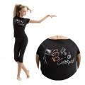 T-shirt VITA GINNASTA RIBBON  Black