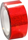 DIAMOND Metallic adhesive tape. Colour: Red
