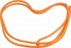 "PASTORELLI ""METAL"" rope: New Orleans model - Orange fluo with silver lamé threads, Art. 00127"