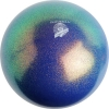 "PASTORELLI GLITTER Gym Ball HV (High Vision). Color: ""Ocean Blue"", Art. 00032"