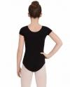 Body Wrappers BWC120 Classwear Short Sleeve Ballet Cut Leotard, color: Black
