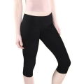 Short leggings (Capri), cotton. Color: Black