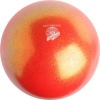 "PASTORELLI GLITTER Gym Ball HV (High Vision). Color: ""Red-Orange"", Art. 00033"