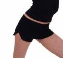 Wide short-pants, black tricot