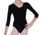 Classic 3/4 Sleeve Gymnastics Leotard black - SOLO FD927-107