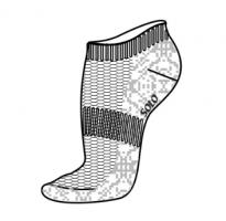 Gymnastic socks SOLO NS21, white