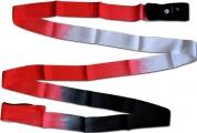 Shaded ribbon PASTORELLI, 5 m. Colour: Black-Red-White, Art. 03228