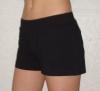 Training short-pants, black tricot