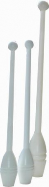 Clubs for practice, 36 cm. Colour: White
