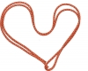 """PASTORELLI """"METAL"""" rope: New Orleans model - Red with silver lamé threads, Art. 0012"""