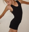 Training top, T-back, black tricot