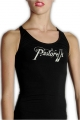 BLACK Racerback Tank Top with PRINTED CLUBS