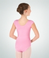 Body Wrappers BWC120 Classwear Short Sleeve Ballet Cut Leotard, color: Lt. Pink