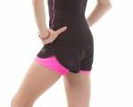 Double gymnastics shorts SOLO Black/Pink RG768.0.11