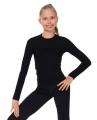 T-shirt, long sleeves, black, SOLO FD654.107
