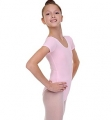 Short Sleeve Leotard, pink - SOLO FD926-108
