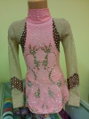 Leotard for competitions, used. For height 128-138 cm