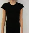 T-shirt, black tricot