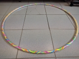 Hoop multicolor decorating with metallic tapes (Service)