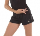 Shorts Solo with side incisions, Black polyester RG762.110