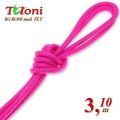 Competition Rope Tuloni mod. Fly. Color Pink, Art.T0194
