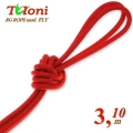 Competition Rope Tuloni mod. Fly. Color Red, Art.T0196