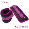 Wrist weights Tuloni pair 2 x 250 = 500 gr
