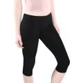 Short leggings (Capri), cotton. Color: Black