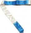 ITALIA rayon ribbon, bicolor white light blue , Art. 10032