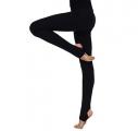 Stirrup tights SOLO FD702, cotton. Color: Black.