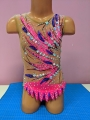 Leotard for competitions, used. For height: 116-124 cm